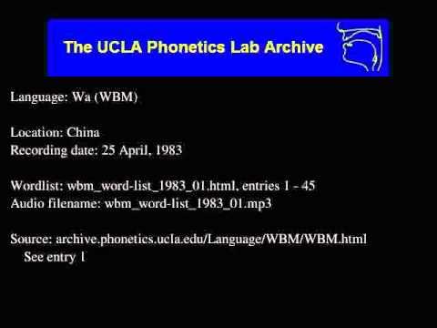 Wa audio: wbm_word-list_1983_01