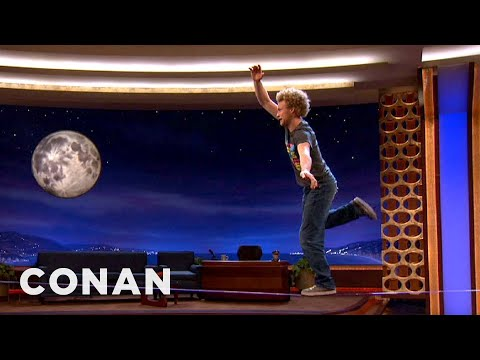 Slackline Performer Andy Lewis - CONAN on TBS