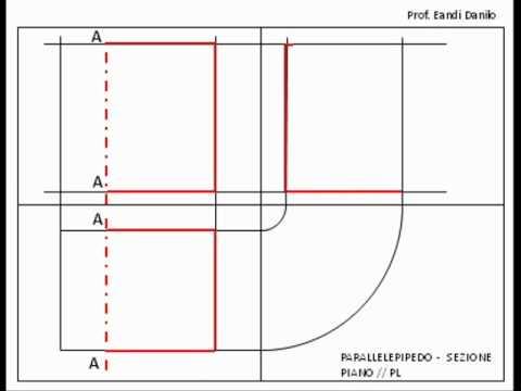 Parallelepipedo: sezione piano // PL