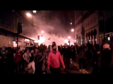 Occupy Wall Street Oakland Protesters Police Engage Tear Gas
