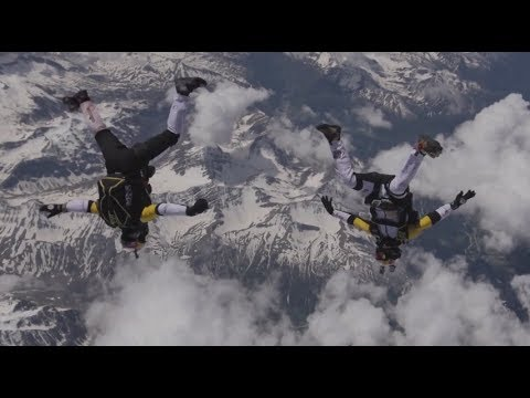 Red Bull Soul Flyers Project Mont Blanc 2014 France