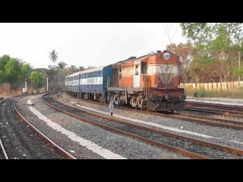 One of India's Longest Trains Navyug Express