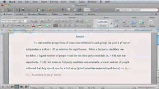 how to report statistics in apa style using word for mac youtube