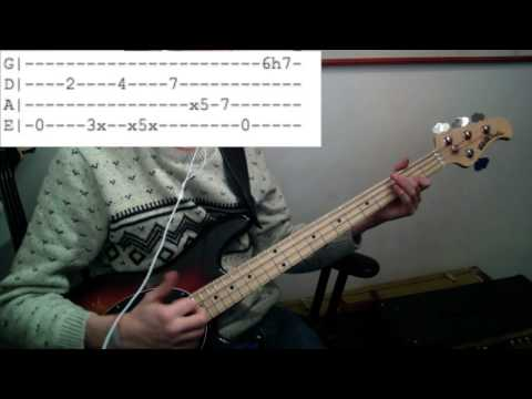 Off Beat Funk Slap Bass Lesson - Tom O'Connor