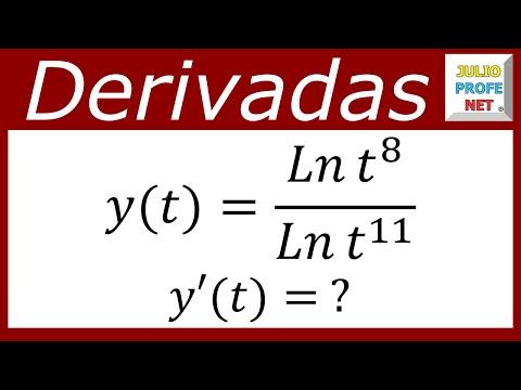 Derivada de un cociente de logaritmos