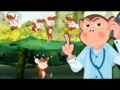 Five Little Monkeys - Nursery Rhyme -3oOZiVzcSyg
