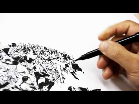 Kim jung gi : Awesome demonstration of drawing!
