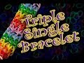 How to Make a Triple Single Rainbow Loom Bracelet HD