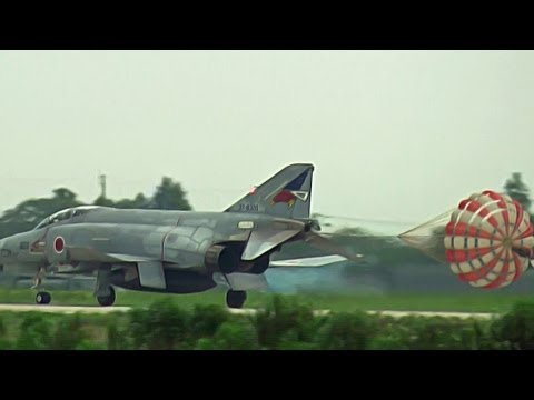F-4 Phantom II Landing Runway 03R HYAKURI AIR BASE JASDF 3rd