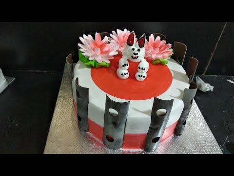 Birth Day Cake Painepple flavour Cake Flowers nozzle hai