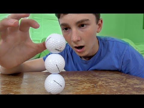 Stacking 3 Golf Balls Challenge! | That's Amazing