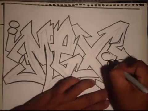How to draw graffiti - (REQUESTED)- (MEX)-By Wizard.wmv