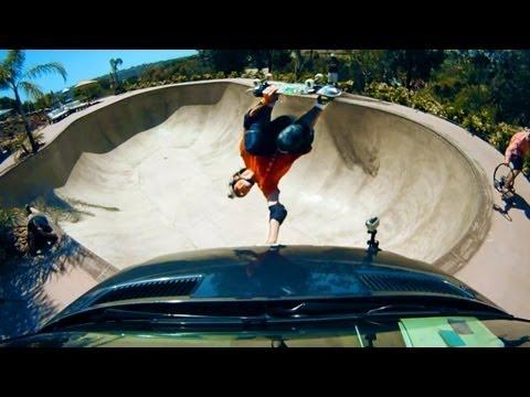 GoPro HD: Skateboarding Bucky Lasek-s Backyard Bowl