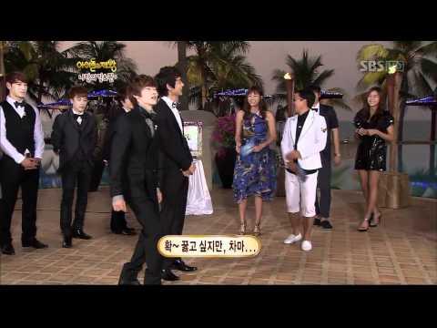 110202 Eunhyuk, Minho choose Krystal