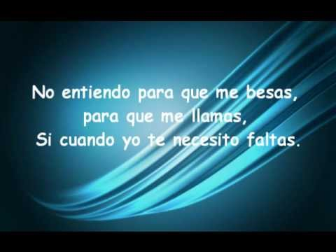 letra de la cancion demaciado tarde de: