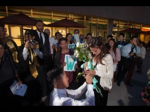 UCR Student Steven Jew Proposes to Girlfriend Chelsea Stack At 2013 Commencement
