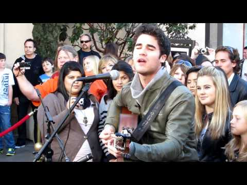 "Darren Criss performs ""Teenage Dream"" at The Grove LA"