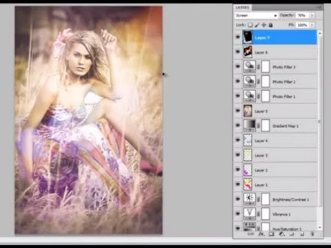 Photoshop CS5: How To add a Colorful Retro/Vintage effect to pictures