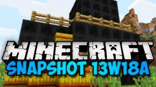 Minecraft Snapshot 13w18a - COAL BLOCKS, HAY RECIPE, & MORE! (HD)
