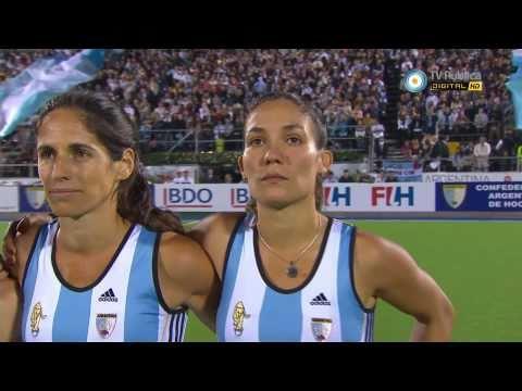 HD Las Leonas Himno Argentino Final Mundial Hockey Rosario 2010