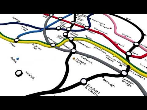 London Tube Network - Geographic Extent, Draft 2