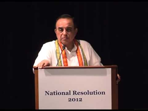 Dr Subramanian Swamy speech about Sonia Gandhi Communal Violence Bill - 20 Dec, 2012