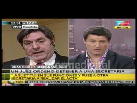 <b>Juez entrerriano.</b> Juan Carlos Gemignani se defendi� de las acusaciones