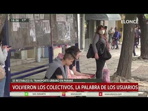 Se restableció el servicio de colectivos en Paraná: La palabra de los usuarios