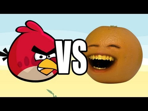 Annoying Orange vs Angry Birds