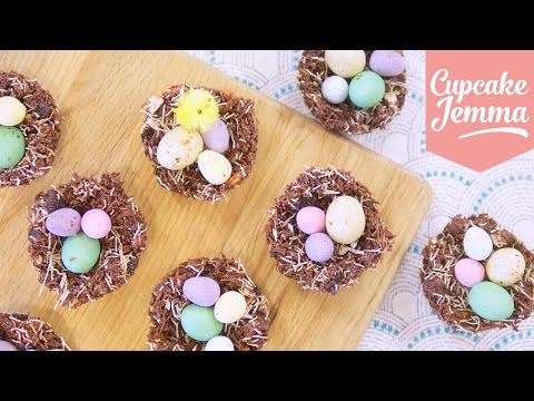 How to make THE BEST Chocolate Nests for Easter!   Cupcake Jemma