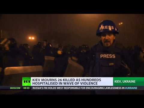 Uneasy Truce: Ukraine mourns riot victims as govt agrees to ceasefire (Riots)