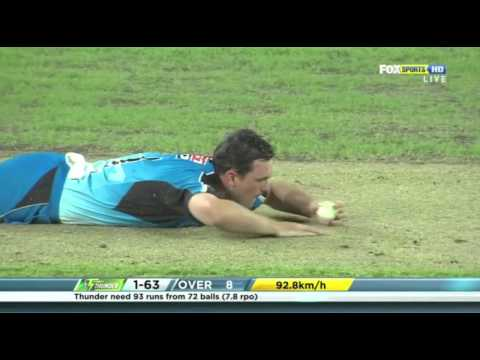 Chris Gayle 100  Sydney Thunder v Adelaide Strikers Big Bash League 2011 12