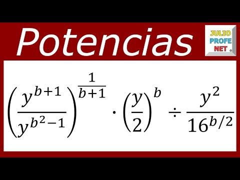Simplificación de potencias algebraicas