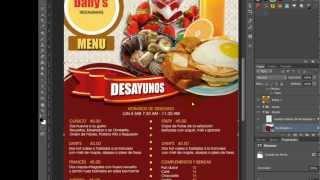 Photoshop Menu para Restaurante Desayuno