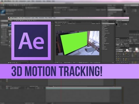 After Effects CS6 3D Motion Tracking Tutorial