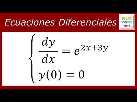 Ecuación diferencial por separación de variables