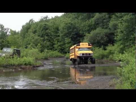 mud bogging short bus poster