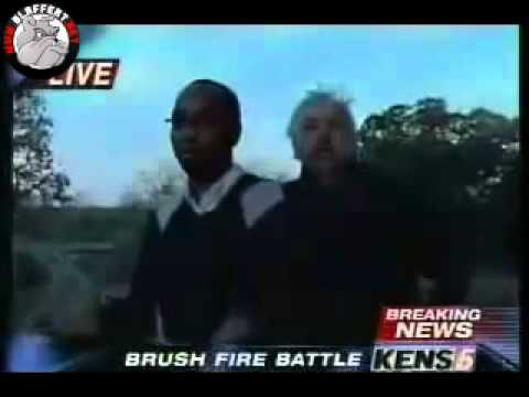 {LOL!} A property owner interrupts a Live news report {COMEDY}