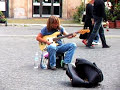 Amazing bassist in Piazza Navona (Rome)