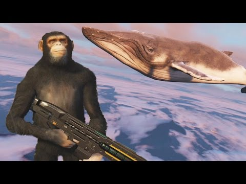 Top GTA 5 mods - bodyguard monkeys & flying whales