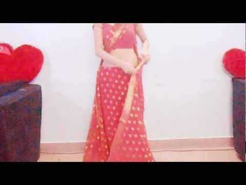 How To Wrap Sidha Saree/How To Wear  A Sari/How To Drape A Saree In A Designer Way