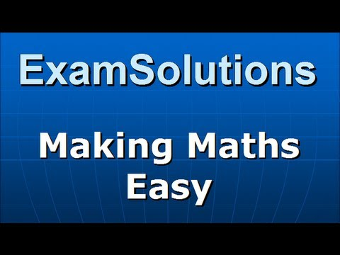 A-Level Edexcel C3 January 2010 Q4(i) : ExamSolutions