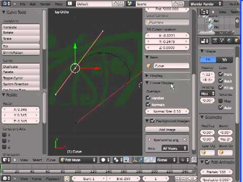 Introduction to using curves in Blender - part 1 - Aparima Blender Club