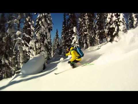 GoPro Mountain skiing in Lujba