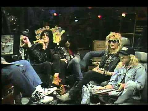 Guns n Roses 1st ever appearance on MTV