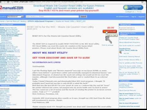How to buy RESET KEYs for WIC to reset Epson Waste Ink Pads