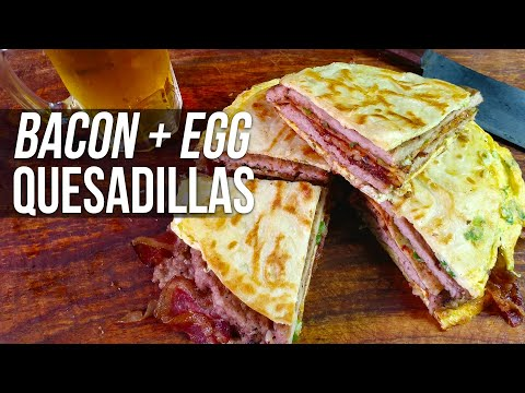 Bacon and Egg Quesadillas by the BBQ Pit Boys