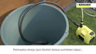 Kärcher BP 3 GARDEN sodo siurblys
