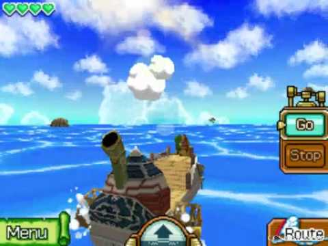 The Legend of Zelda Phantom Hourglass Walkthrough -The Northwestern Sea Chart/Cannon Island- Part 8