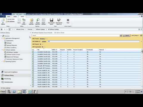 Deploying Software Updates with Configuration Manager 2012
